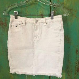 Dresses & Skirts - White high wasted mini skirt